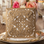 Rose Gold Laser Cut Wedding Invitations WLC001