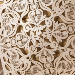 Graceful Pearl White Laser Cut Wedding Invitations WLC004
