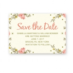 Cheap Print Floral Spring Rustic Wedding Invitation WIP001