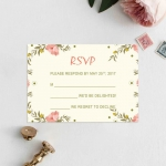 Elegant Floral Summer and Spring Wedding Invitations, Blush Wedding Colors, Greenery, Yellow, Green, Rustic Weddings, BOHO Cheap Wedding Invitations, DIY Watercolor Pattern WIP001