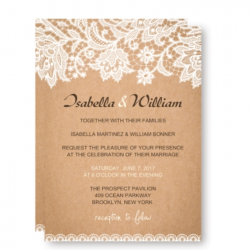 Chic Rustic Wedding Invitations with White Floral and Leaves, Fall Country Wedding Invitations, Save the Dates WIP002