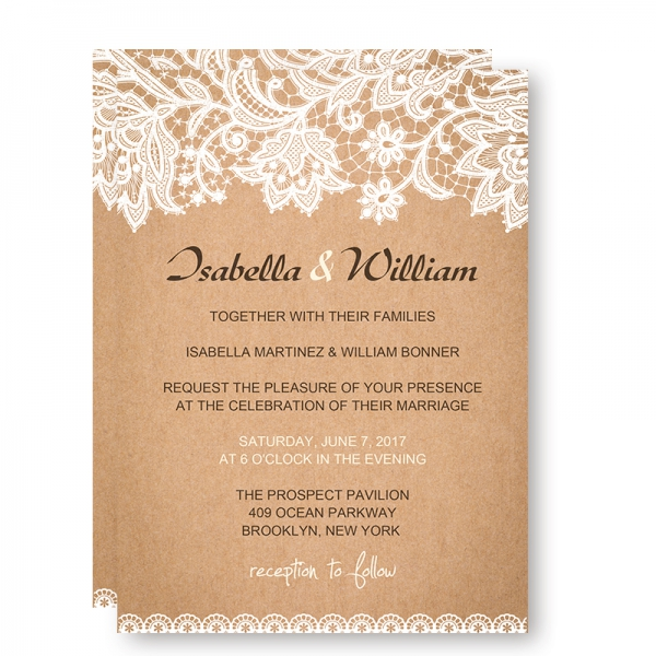 Cheap Rustic Wedding Invitations: Cheap Rustic Wedding Invitations With White Floral And