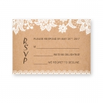 Chic Rustic White Floral Fall Wedding Invitation WIP002