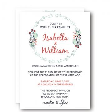 Classic invites wedding invites paper cheap elegant floral spring unique wedding invitation wip007 filmwisefo Choice Image