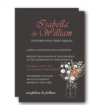 Rustic invites wedding invites paper cheap rustic black chalkboard floral wedding invitation wip008 filmwisefo