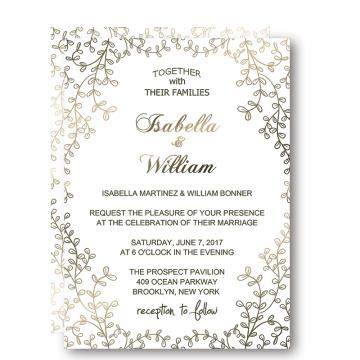 Wedding invitations wedding invites paper affordable elegant floral winter wedding invitation wip009 filmwisefo