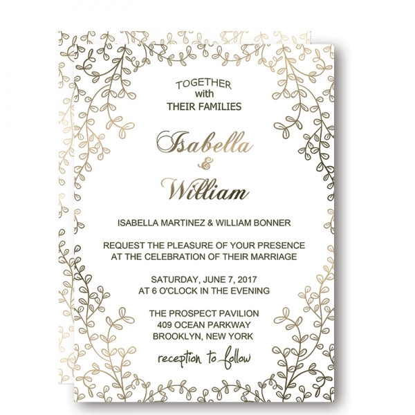 affordable elegant floral winter wedding invitation wip009 wedding