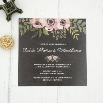 Cheap Floral Vintage Fall Invitation WIP017