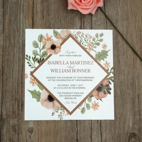 cheap print vintage wedding invitation wip024 wedding invitations