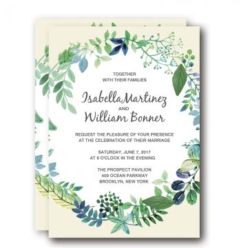 Cheap Fabulous Summer Beach Wedding Invitation WIP029