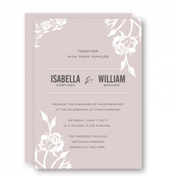 Elegant pink mauve wedding invitations, white floral, fall weddings, spring weddings, cheap  wedding invitations, diy wedding invitations samples, save the date WIP031
