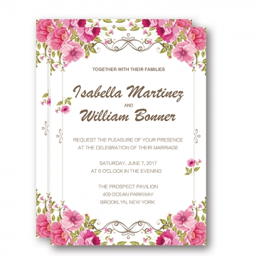 Blush pink floral wedding invitations cheap, spring summer wedding ideas, rustic weddings, save the date WIP032