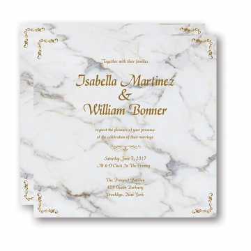 Cheap Modern Marble Wedding Invitation WIP038