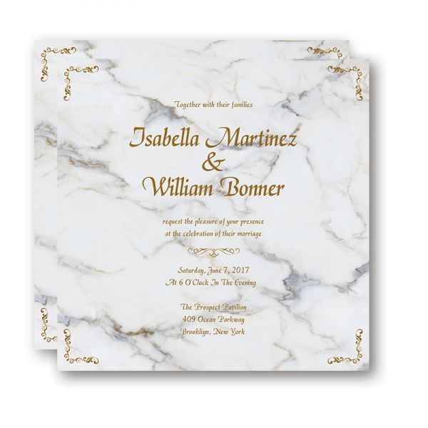 Modern Marble Wedding Invitation Wip038