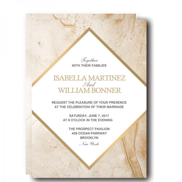 Modern Cheap Marble Wedding Invitation Wip040 Wedding Invitations