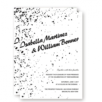 Cheap Black And White Fall Wedding Invitations Cheap, Minimalist wedding invitations,WIP041