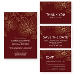 Christmas Winter Affordable Wedding Invitation WIP042