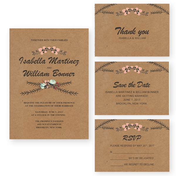 rustic wedding invitations cheap cheap rustic floral fall wedding invitation wip043 7221