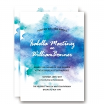 Modern Cheap Watercolor Summer Wedding Invitation WIP044