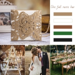 Laser Cut Wedding Invitations Cheap, Rustic Wedding Invitations, Spring/fall/winter  WLC017