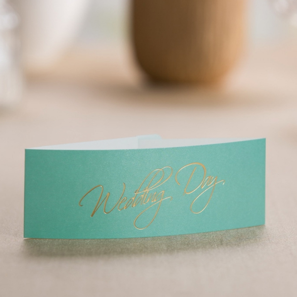 Tiffany Blue Laser Cut Winter Wedding Invitation With Belly Band