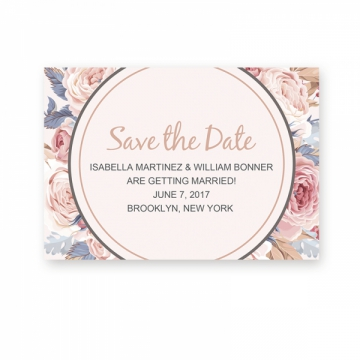 Cheap Rustic Floral Save The Date Card STD001