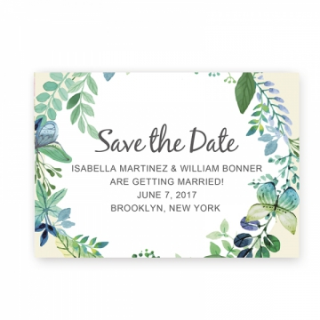 Rustic Chic Summer Save The Date Card STD002