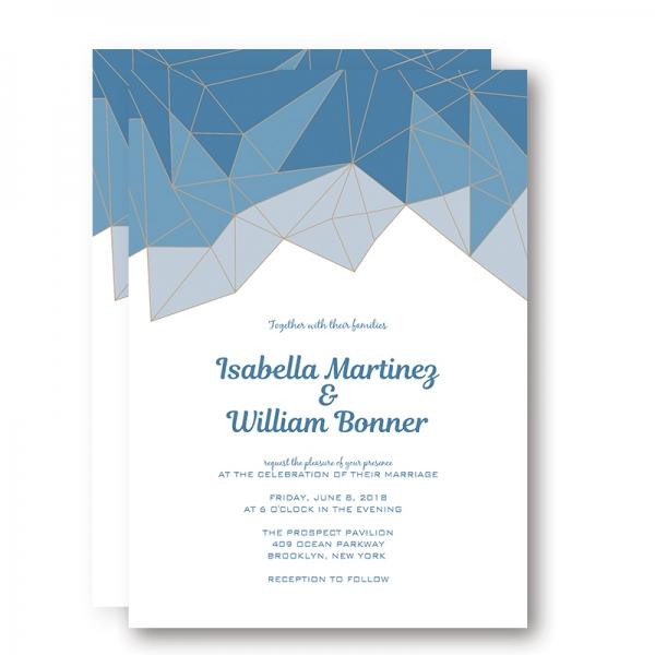 Rustic Chic Summer Shade of Blue Wedding Invitation WIP058 - Wedding ...