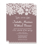 Cheap Lace Mauve Spring Wedding Invitation WIP064