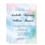 Rustic Shade of Blue Spring Wedding Invitation WIP070