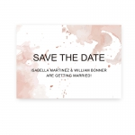 Modern Shade of Pink Watercolor Spring Wedding Invitation WIP074