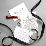 Classic Siver Glittery  Laser Cut Wedding Invitations WS015