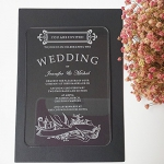 New Simple Rectangle Shape Laser Engraving Letters Clear Acrylic Wedding Invitation Card ACL001