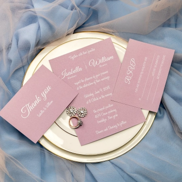Simple mauve invites, fall weddings, spring weddings, cheap wedding invitations, elegant invites, rustic invites, thank you cards?RSVP cards WS065