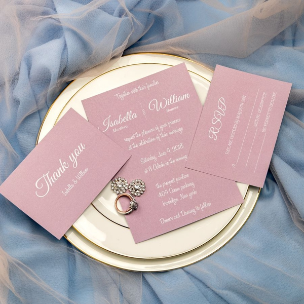 Wedding Invites Online Cheap: Simple Mauve Invites, Fall Weddings, Spring Weddings