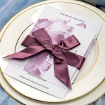 Mauve purple watercolor wedding invitations for fall weddings, beach, boho, custom wedding invitations with ribbon, vintage weddings, cheap sets, anniversaries WS069