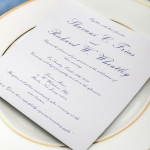 Classic navy blue laser cut wedding invitations, white and golden mirror belt, square, gold foil, shower cards, anniversary, custom stationary, spring/fall/winter WS072