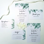 Boho minimalist greenery wedding invitation, rustic wedding invitation, cheap invite, watercolor invite WS101