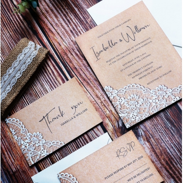 Elegant and rustic wedding invitation, cheap invite, spring fall weddings WS105