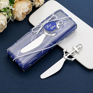 Anchor Cream Knife Wedding Favors WF080