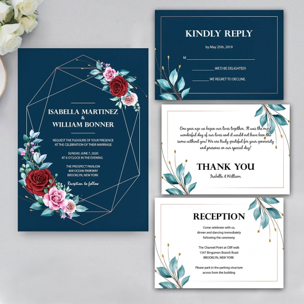 /1067408-3822-thickbox/navy-blue-wedding-invite-with-burgundy-and-purple-watercolor-flowers-cheap-wedding-invites-spring-fall-rustic-ws146.jpg