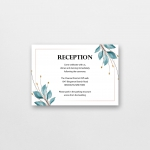 Navy blue wedding invite with burgundy and purple watercolor flowers, cheap wedding invites, spring, fall, rustic WS146