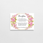 Cheap wedding invitations with blush watercolor wreath, rustic spring wedding, summer wedding, beach wedding, fancy invite WS153