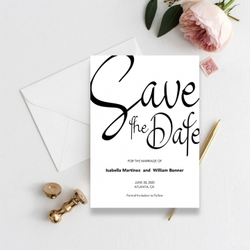 Minimalist cheap modern simple save the date  STD005