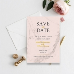 Blush marble cheap save the date STD006