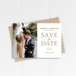Cheap photo save the date, custom save the date STD007