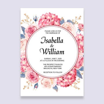 Elegant rustic blush pink floral wedding invitations cheap, spring and summer WS157