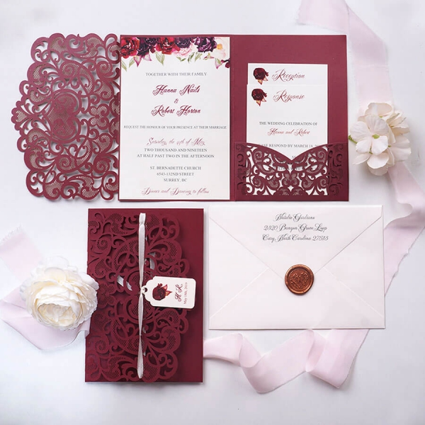 /1067440-3997-thickbox/burgundy-laser-cut-pocket-wedding-invitation-with-tag-romantic-floral-and-elegant-calligraphy-garden-wedding-.jpg