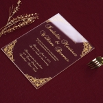 Royal design acrylic wedding invitations, vintage romantic WS189