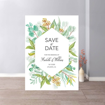 Fresh plants Boho rustic spring and summer save the date magnets STD010